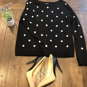 Polka dot black sweater